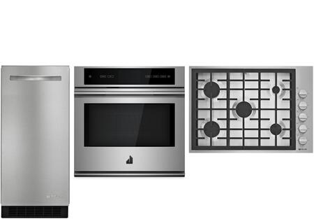3 Piece Kitchen Appliance Package with JGC7530BP 30
