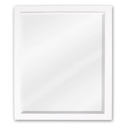 MIR066 Bath Elements 24 inch  X 28 inch  White Adler Mirror with Beveled