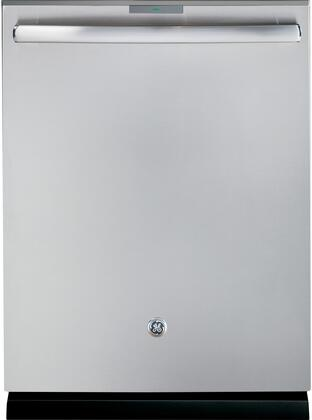 """GE Profile™ Series 24"""" Hidden Control Tall Tub Built-In Dishwasher with Stainless Steel Tub PDT855SSJSS"""
