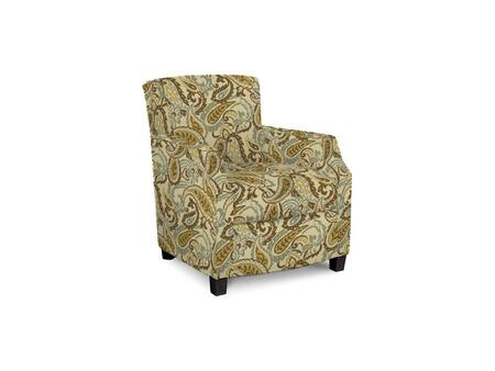 Comiskey Connection 1149-02/BE06-2 28 inch  Accent Chair with Fabric Upholstery  Tapered Wood Legs  Tight Back and Contemporary Style in Woven Paisley