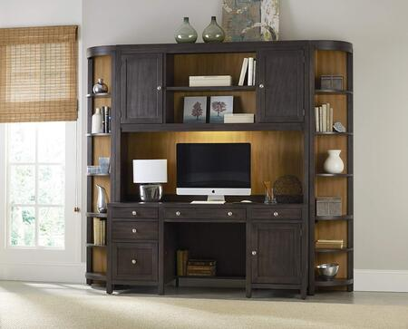 South Park 5078-1044PCSET 4-Piece Home Office Set with Computer Credenza  Hutch and 2x Corner Units in Brownish