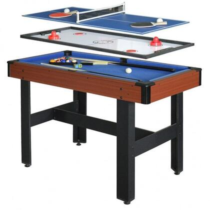 NG1131M Triad 4-Foot 3-In-1 Multi-Game Table with Rugged CARB Certified MDF Construction  Adjustable Leg Levelers  Easy Game Surface Changeover and All Game