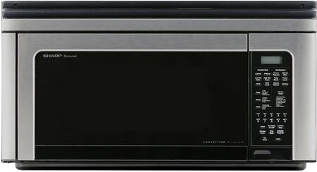 Sharp R1881LSY 1.1 Cu. Ft. 850W Over-The-Range Convection Microwave Oven in Stainless Steel