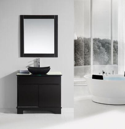 DEC105-36 Oasis 36 inch  Single Sink Vanity Set with Decorative Drawer in