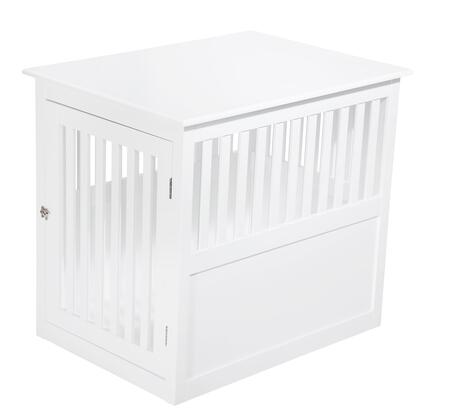 PH1005-White Pet Crate 9 inch  W 25 inch  H End Table In