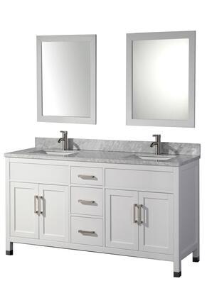-6284W Ricca 84 Double Sink Bathroom Vanity Set