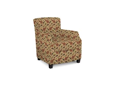 Comiskey Connection 1149-02/BE12-7 28 inch  Accent Chair with Fabric Upholstery  Tapered Wood Legs  Tight Back and Contemporary Style in Woven Floral