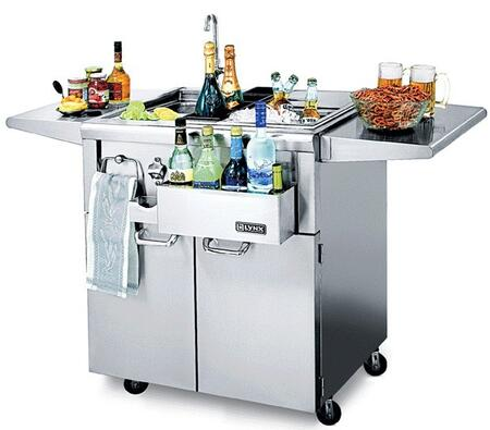 "CS30F-1 30"" CocktailPro Cocktail Station with Stainless Steel Cart  Sink and Faucet  Ice Storage  Bottle Boots  Cutting Board and Towel Bar - Approved For"