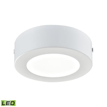 FML5125-AC-30 Ringo 1 Light Round LED Flushmount In Matte White -
