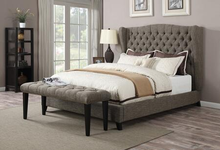 Faye Collection 20897EKB 2 PC Bedroom Set with King Size Bed + Bed in 2 Tone Chocolate
