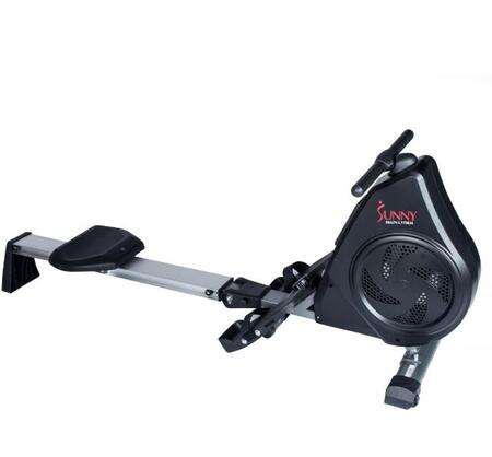 SF-RW5730 Air Magnetic Rower With Aluminum Slide Rail  Digital Monitor  Dual Adjustable Resistance  Pivoting Foot Pedals  Padded Seat and Tablet Holder  in