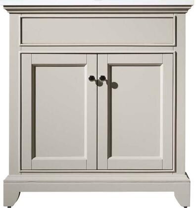 Erin HD-6004-31-QZ 31 inch  Single Sink Vanity with 2 Soft-Closing Doors  Interior Shelves and Quartz Countertop in