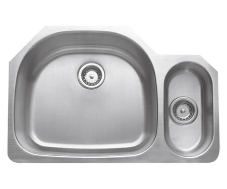 CMU3221-95D Craftsmen Series Stainless Steel Double Bowl Undermount Sinks  Small Bowl on
