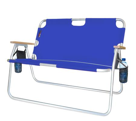 771725DH 44 inch  Tailgater - Two-Person Folding Aluminum Chair in Royal