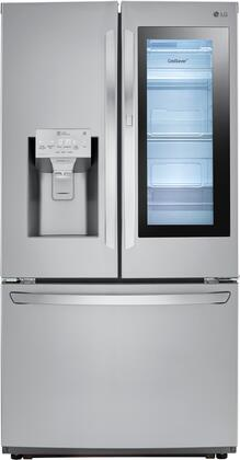 LG LFXS26596S 26 Cu. Ft. Stainless InstaView Door-in-Door French Door Refrigerator