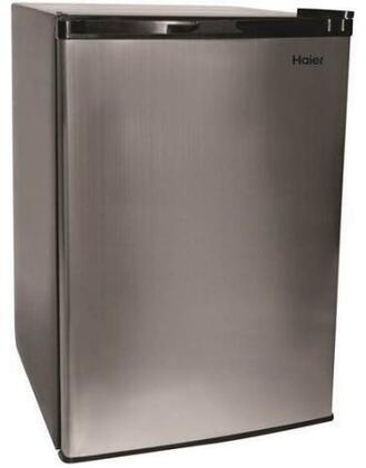 "HC46SF10SV 21"" Compact Refrigerator with 4.5 cu. ft. Capacity  2-Liter Bottle Storage  Top Freezer  2 Adjustable Shelves  and Fingerprint Resistant Stainless"