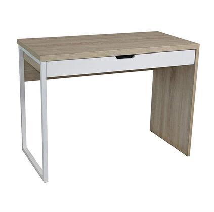 Marlan Collection 92147 39 inch  Desk with 1 Drawer  Metal Frame  Medium-Density Fiberboard