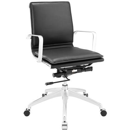 Sage Mid Back Office Chair in Black EEI-1530-BLK