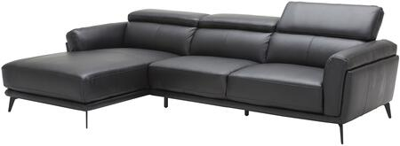 EK-LK385 Collection EK-LK385R-BK 2-Piece Sectional Sofa with Left Arm Facing Chaise and Right Arm Facing Sofa in