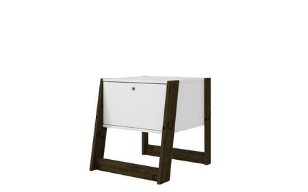 112AMC143 Salvador Nightstand with 1 Drawer in White and Dark