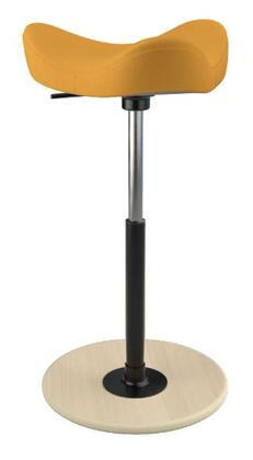 MOVE 2600 DINIMICA 9042 NAT HI BLK 26 inch  - 34 inch  Sit-Stand Chair with Dinimica Upholstery  9042 Color Code  Natural Ash Base  High Lift Height and Black Gas
