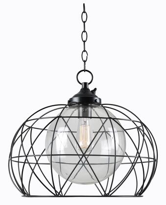 Cavea 93665ORB 1-Light Outdoor Pendant Ceiling Light with 10