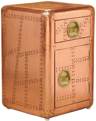 Ds-a158-902 16 Aviation Door Chest With One Drawer And One Door For Storage  Recessed Hardware Pulls And Hardwood Frame In
