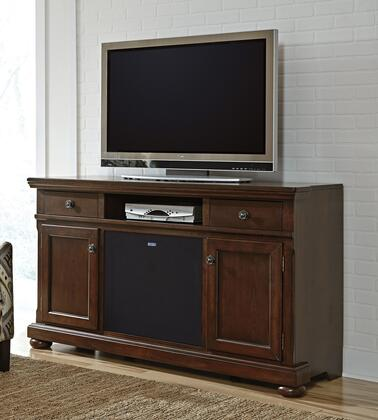Porter Collection W697-132A41 2-Piece Set with TV Stand and W100-41 Large Integrated Audio Unit in Rustic