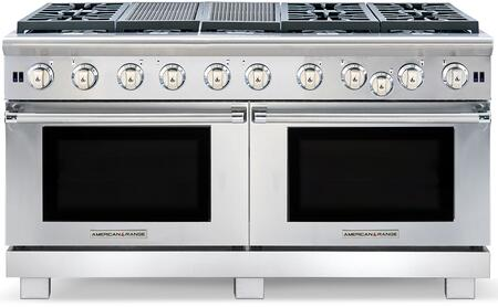 ARR-660X2GRN 60 inch  Cuisine Series Gas Range with 2x 4.4 cu. ft. Oven Capacity  6 Sealed Burners  22 inch  Grill  Convection Oven with Infrared Broiler  in Stainless