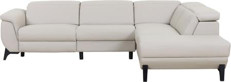 LN-302-LG 113 inch  2-Piece Sectional Sofa with Electrical Recliner and High Quality Eco-leather Seating in Light