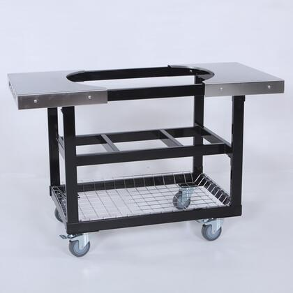 PR370 Stainless steel Cart with Side Tables   Shelves and Basket for Oval