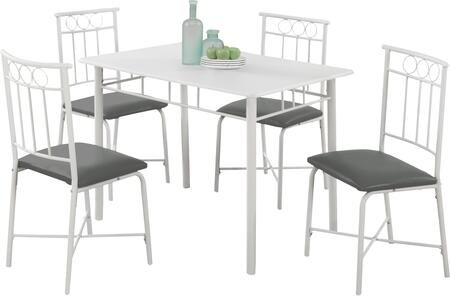 "I 101940"" 5 PCS Dining Set with Leather Material  Square Legs and Upholstered Chairs in"