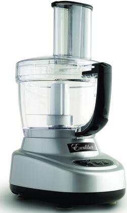 EXFP300S 11-Cup Food Processor with 1/3 Horsepower Motor  2 Mixing Bowls  4 Stainless Steel Cutting Disks  Dough Blade  and Touchpad Controls in