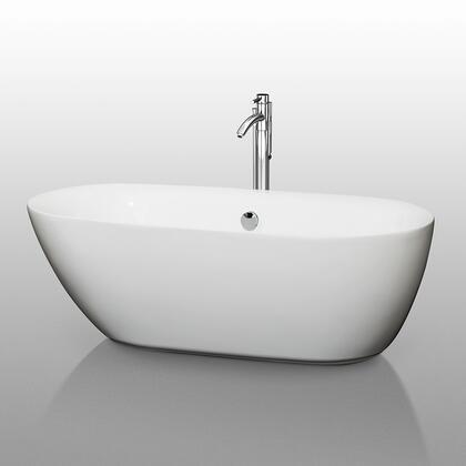 WCOBT100065 White 65 in. Soaking Bathtub with Chrome
