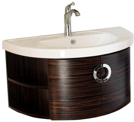804338 34 Single Vanity - Wood - Ebony -