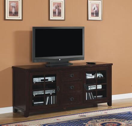 TC72-1066-O128 Dakota 72 inch  TV Stand with Windowpane Doors  Adjustable Hinges  Adjustable Shelves  Pass Through Holes for Easy Wire Management and Ventilation in