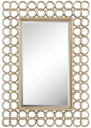 4937 Austin Mirror in Brushed Silver