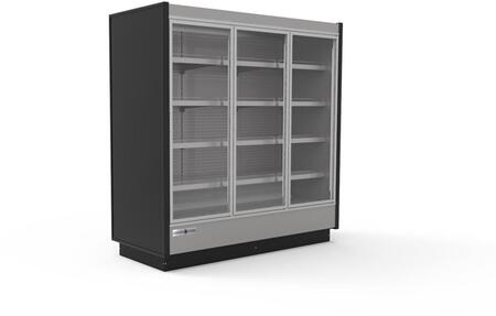 KGVMD3R High Volume Grab-N-Go Case with 3 Doors  56.37 cu. ft. Capacity  4430 Cooling BTU  Remote Condensing Unit  in