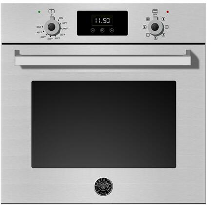 Bertazzoni PROFS24XV Professional Series Wall Oven 24 Inch 2.3 cu. ft. Total Capacity in Stainless Steel