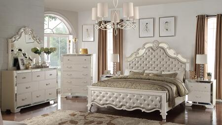 Sonia Collection SONIA KING BED SET 6-Piece Bedroom Set with King Size Bed  Dresser  Mirror  Chest and 2 Nightstands in