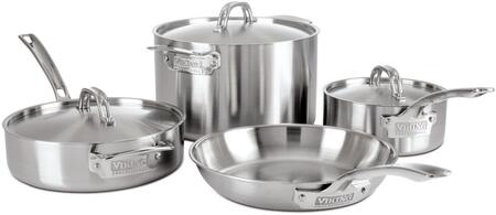 5-Ply Stain 7-Piece Stainless Steel Cookware