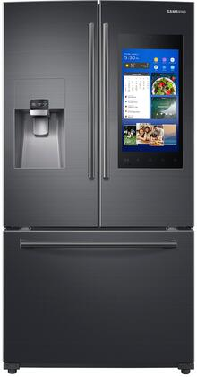 "RF265BEAESG 36"" French Door Refrigerator with Family Hub 2.0  24.2 cu. ft. Capacity  FlexZone  Exernal Ice and Water Dispenser  and CoolSelect Pantry  in Black"