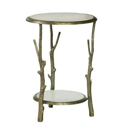 P020409 Brady Round Marble Top Accent Table In
