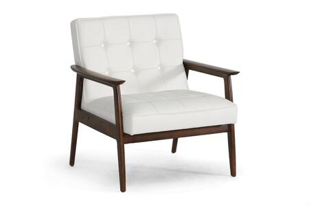 WIKI-CN-A-WHITE Baxton Studio Stratham Mid-Century Modern Club Chair  In