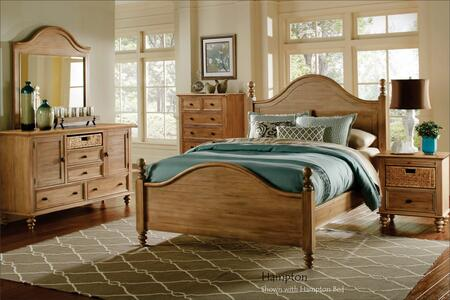 Vintage Casual Collection CF-1202-0252-K-5PC 5-Piece King Bedroom Set with Poster Bed  Dresser  Mirror  Nightstand and Chest in Plantation