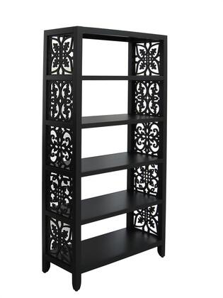 641175 Black Bookcase Painted