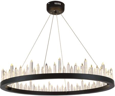 1705D31SDG 1705 Malta Collection Chandelier L:31.5 In W:31.5In H:5In Lt:40 Satin Dark Grey Finish (Royal Cut