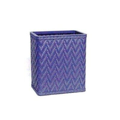 S423SG Elegante Collection Decorator Color Wicker Wastebasket in Sage