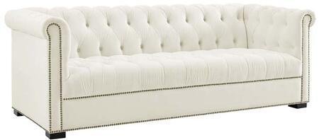 Modway EEI-3064-IVO Heritage Upholstered Velvet Sofa, Ivory