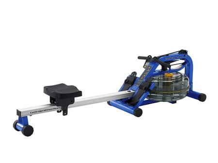 Azul Series CAMAR Cambridge Challenge Adjustable Resistance Rower with Multilevel Monitor with USB Port  Height Adjustable Foot Plates  Ergonomic Handles and